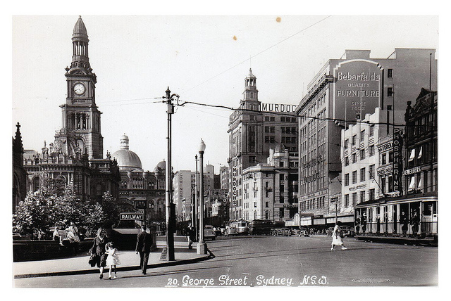 Sydney Town Hall Back when ....