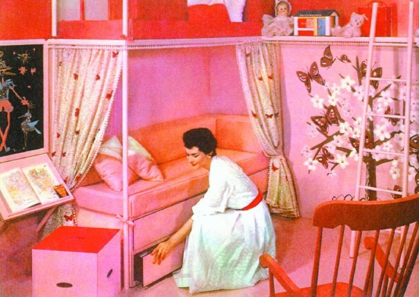 Retro design bourgeoise bloomers for 1950 bedroom ideas