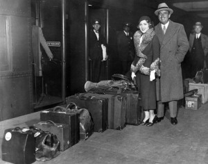 Mary Pickford and Doug Fairbanks baggage